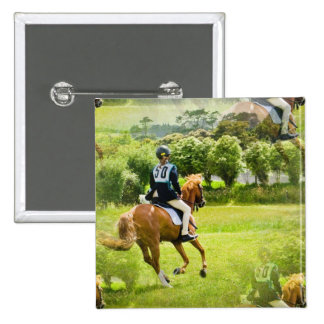 Eventing Horse Square Pin