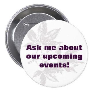events 7.5 cm round badge