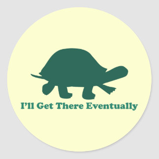 Eventual Turtle Classic Round Sticker