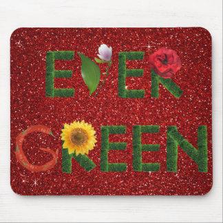 Ever Green Ecologist Gllitter Mousepad