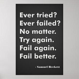 Ever tried Ever failed Print