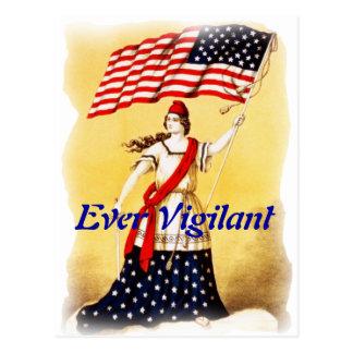 """""""Ever Vigilant"""" Vintage Patriotic Postcard"""