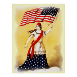 """""""Ever Vigilant"""" Vintage Patriotic poster"""