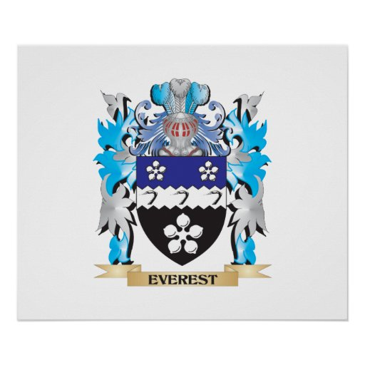 Everest Coat of Arms - Family Crest Poster