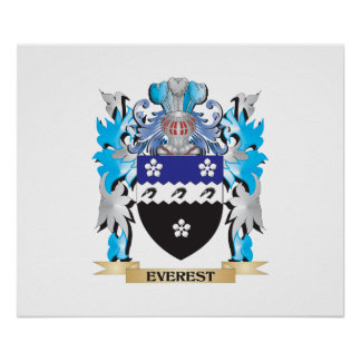 Everest Coat of Arms - Family Crest Print