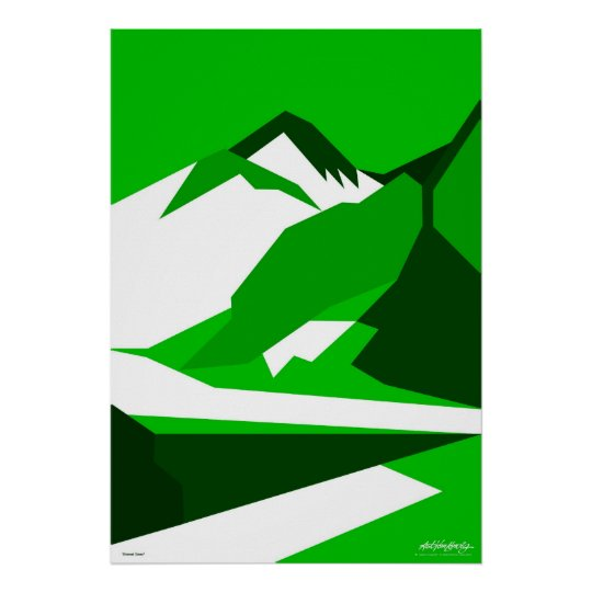 Everest Green - Art Gallery Selection Poster