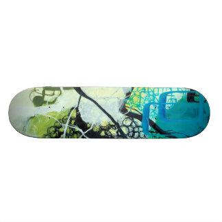 Everglades - Blue & Green Abstract Art Skateboard