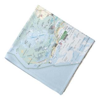 Everglades map bandana