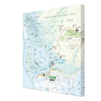 Everglades map canvas print