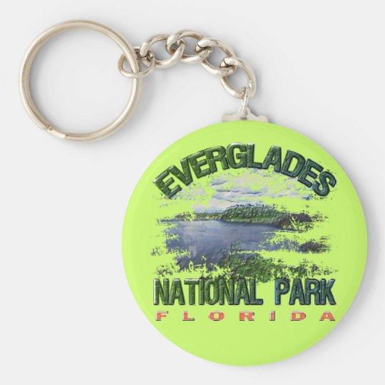 Everglades National Park, Florida Basic Round Button Key Ring