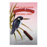 Everglades vintage travel poster. poster