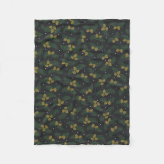 Evergreen Acorn country winter fleece blanket