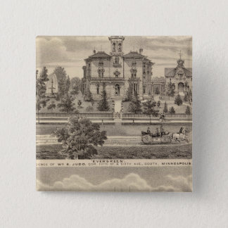 Evergreen and Guilford Place, Minnesota 15 Cm Square Badge