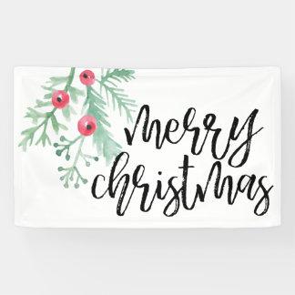 Evergreen Christmas Holiday Banner