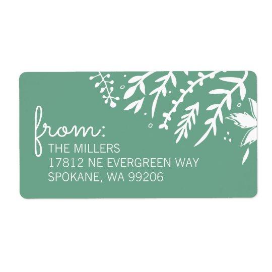 Evergreen Corners Shipping Label