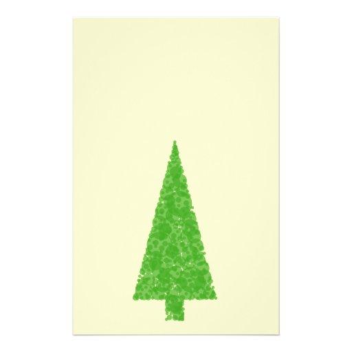 Evergreen Fir Tree. Green Yellow. Christmas. Flyer Design