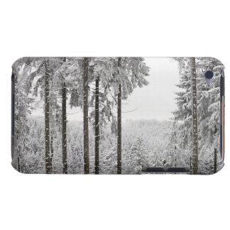 Evergreen forest in winter barely there iPod covers