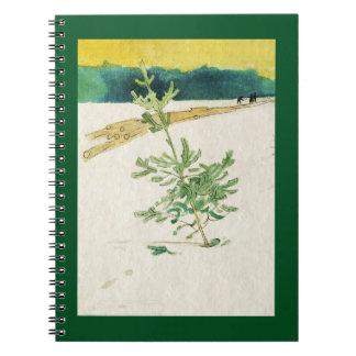 Evergreen in Snow Notebook