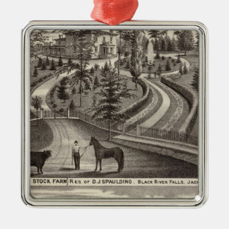 Evergreen Stock Farm, res Christmas Ornament
