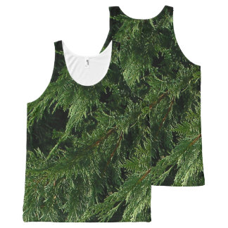 Evergreen Tree - Cypress Boughs All-Over Print Tank Top