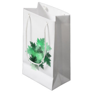 Evergreen Tree Fractal Art Design Small Gift Bag