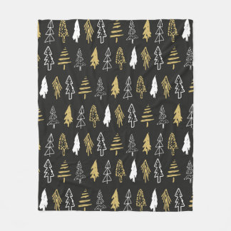 Evergreen Trees Fleece Blanket