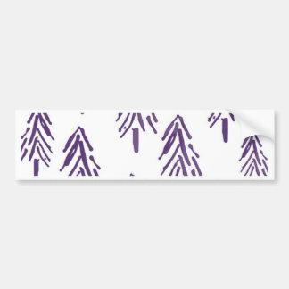 Evergreen Trees in Purple Bumper Sticker