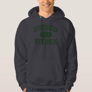 Evergreen - Vikings - High School - Metamora Ohio Hooded Pullovers