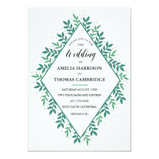 Evergreen Wedding Invitation