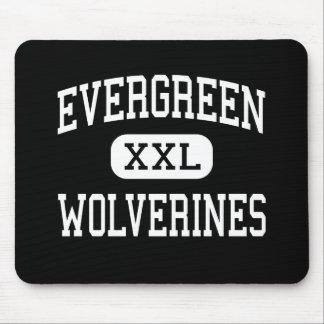 Evergreen - Wolverines - High - Seattle Washington Mouse Mat