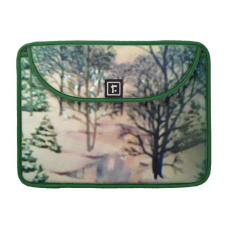 Evergreen Wonderland Green Macbook Pro Flap Sleeve MacBook Pro Sleeve