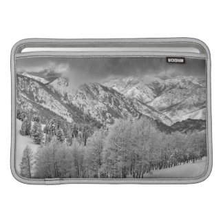 Evergreens and Aspen trees in a snow storm Sleeve For MacBook Air
