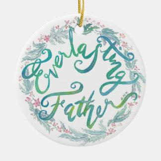 """Everlasting Father"" watercolor ornament/saiah 9:6 Christmas Ornament"