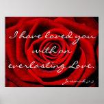 Everlasting love bible verse reminder poster