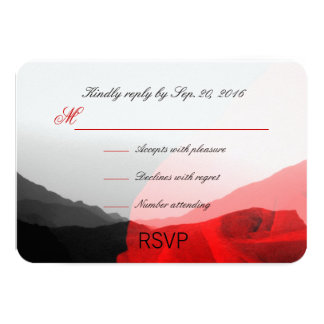 Everlasting Love/Mountain Range Red Rose RSVP 9 Cm X 13 Cm Invitation Card