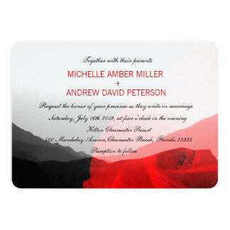 Everlasting Love/Mountain Range Red Rose Wedding Card