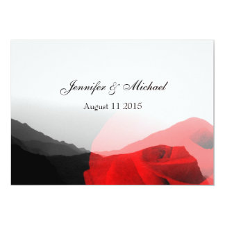 Everlasting Love/Mountains & Red Rose Wedding Card