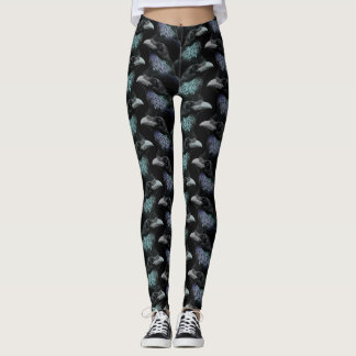 Evermore Gothic Raven Conspiracy Trad Goth Pattern Leggings