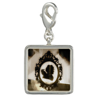 Evermore Square Charm, Silver Plated