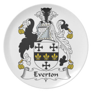 Everton Family Crest Party Plates