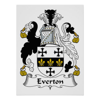 Everton Family Crest Poster