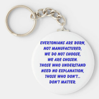 evertonians are born basic round button key ring