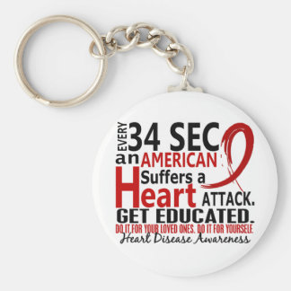 Every 34 Seconds Heart Disease / Attack Key Ring