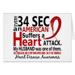 Every 34 Seconds Husband Heart Disease / Attack Card
