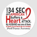 Every 34 Seconds Husband Heart Disease / Attack Sticker