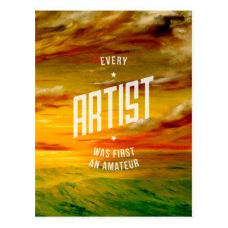 Every Artist Inspirational Postcard