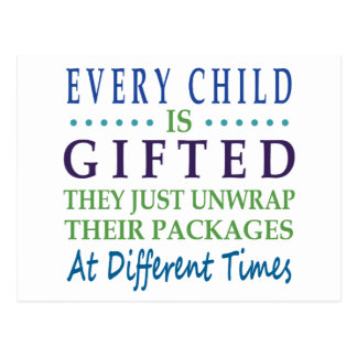 Every Autistic Child is Gifted Postcard