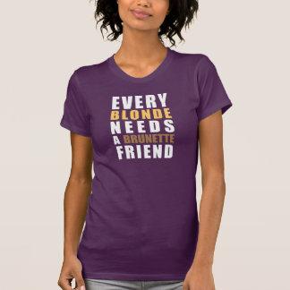 Every Blonde Needs A Brunette Friend T-Shirt Tumbl