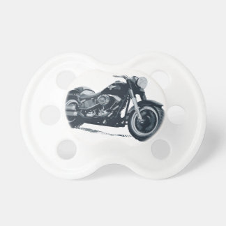 Every Boy loves a Fat Blue American Motorcycle Baby Pacifier