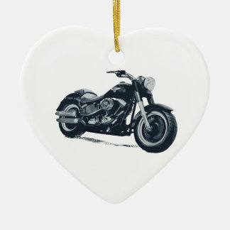 Every Boy loves a Fat Blue American Motorcycle Christmas Ornament